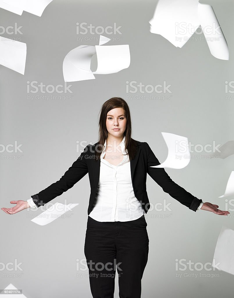 Office girl royalty-free stock photo