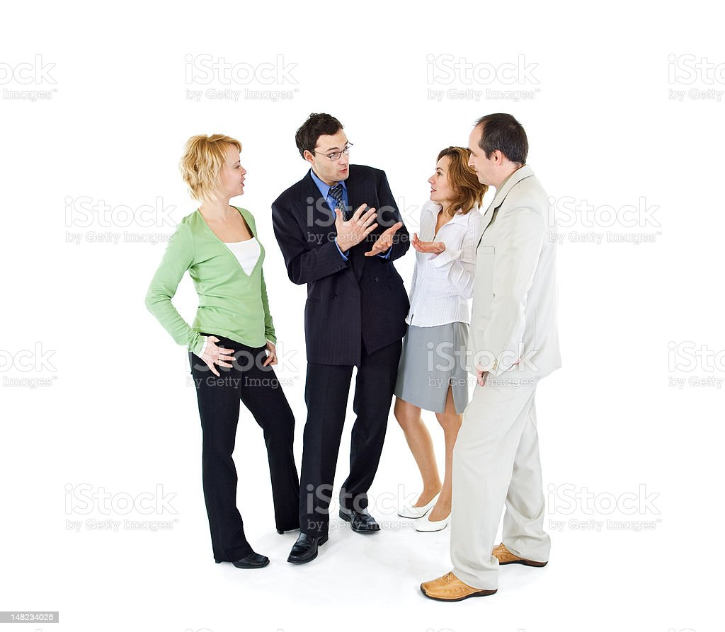 Office gossip people group royalty-free stock photo