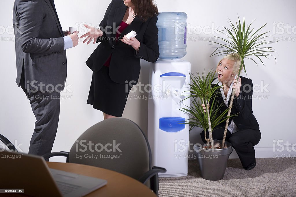 office gossip stock photo