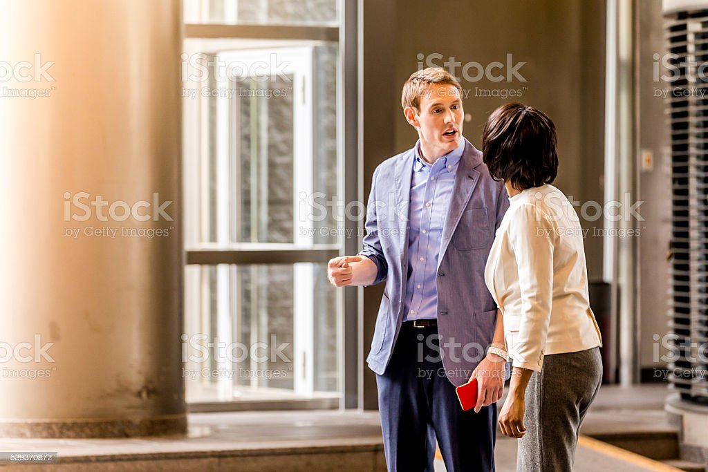 Office Gossips never ends. stock photo