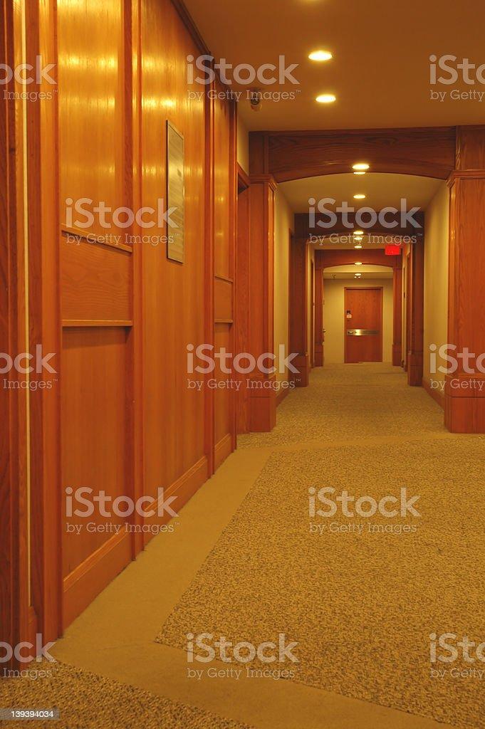 Office Hallway royalty-free stock photo
