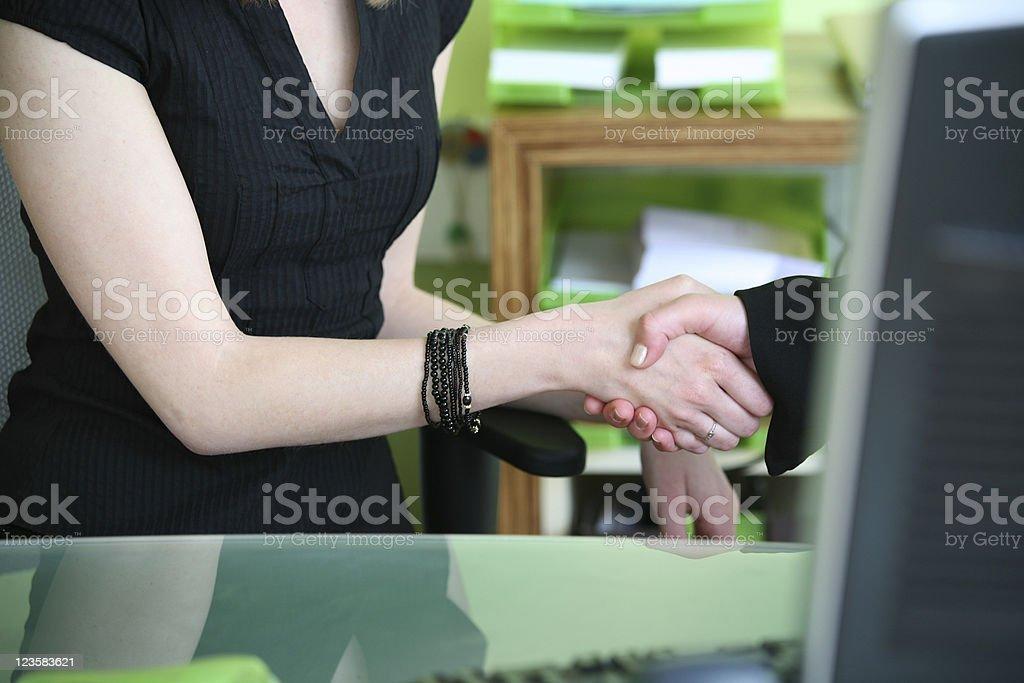 Office handshake stock photo