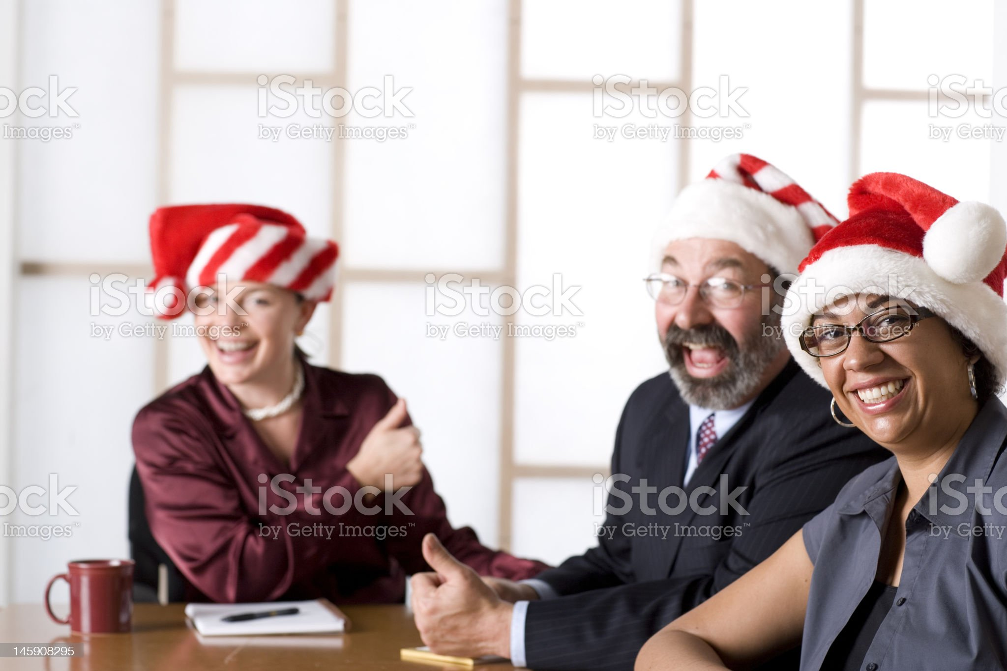 Office Holiday Party royalty-free stock photo