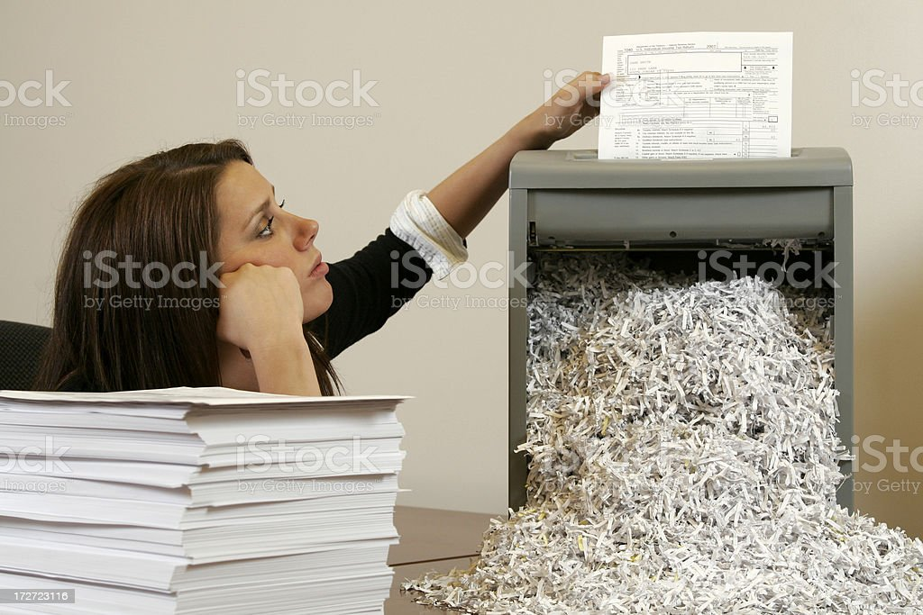 Office Identity Theft stock photo