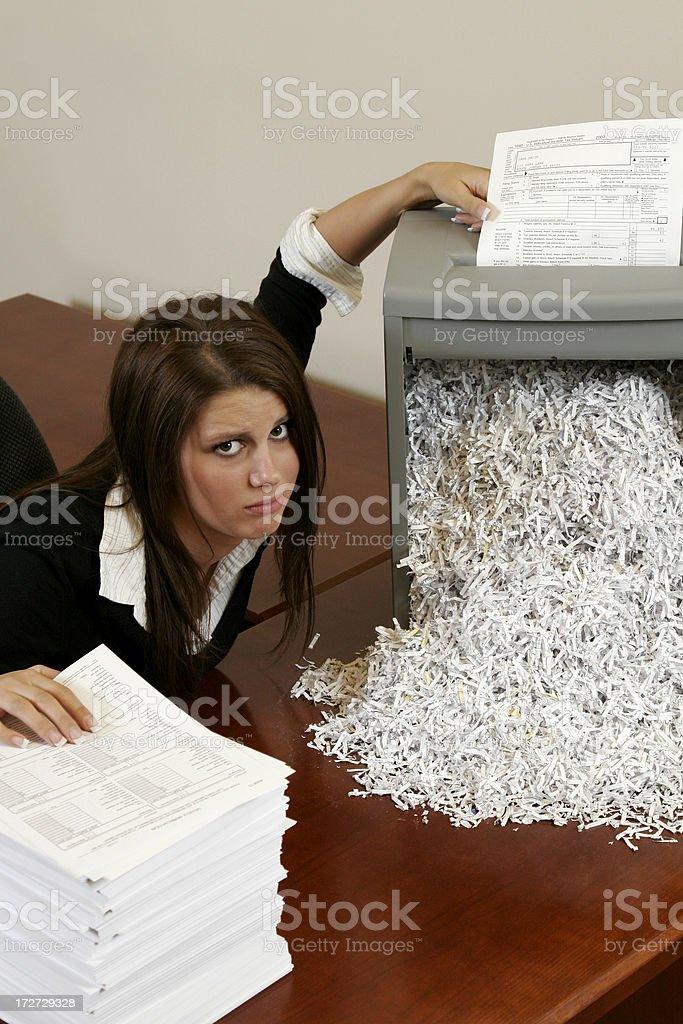 Office Identity Theft royalty-free stock photo