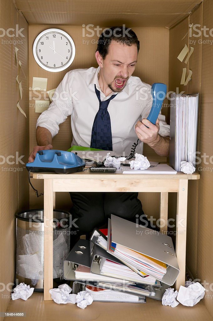 office in a box royalty-free stock photo