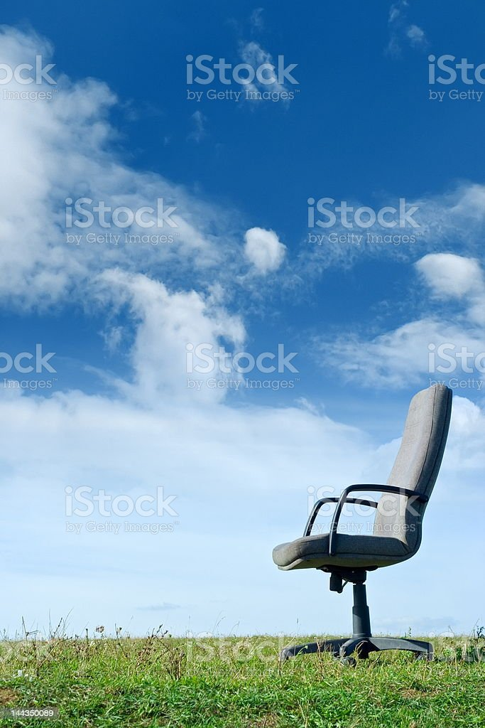 Office in nature royalty-free stock photo