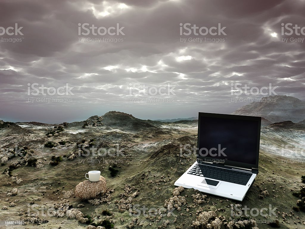 office in the desert royalty-free stock photo