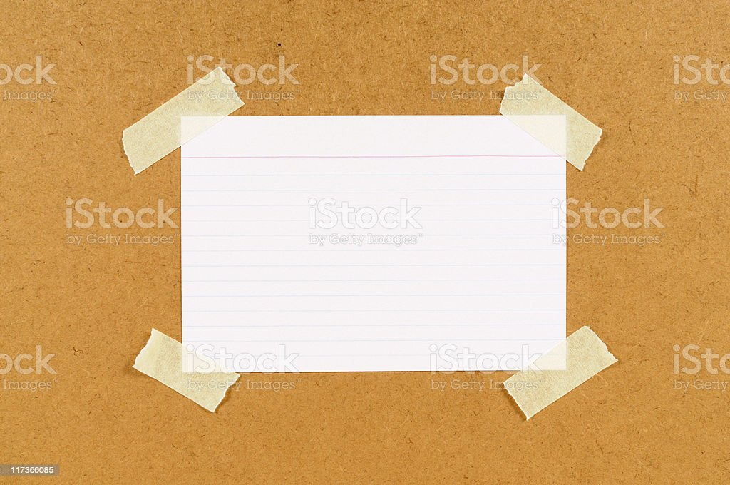 Office index card royalty-free stock photo