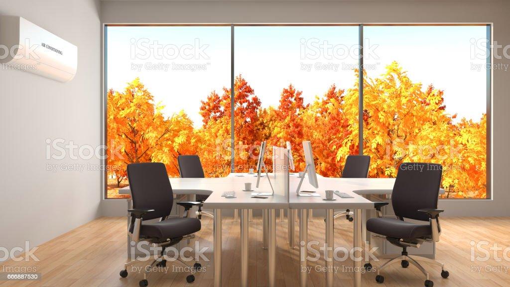 Office interior. 3D Illustration stock photo