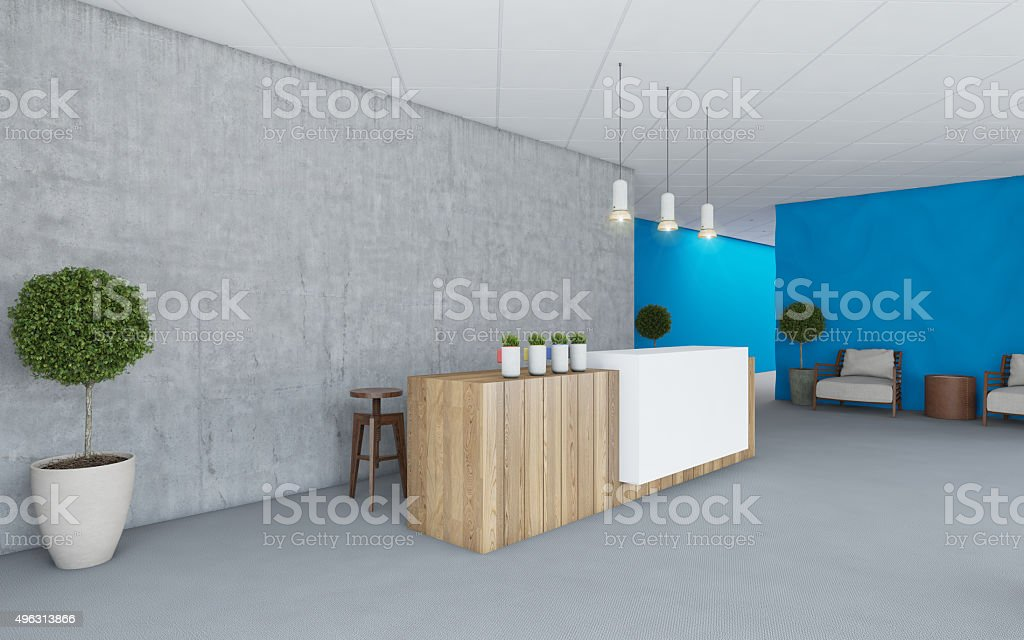 Office Interior Lobby stock photo