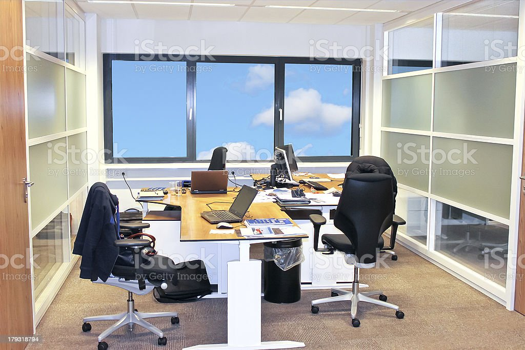 Office interior while working royalty-free stock photo