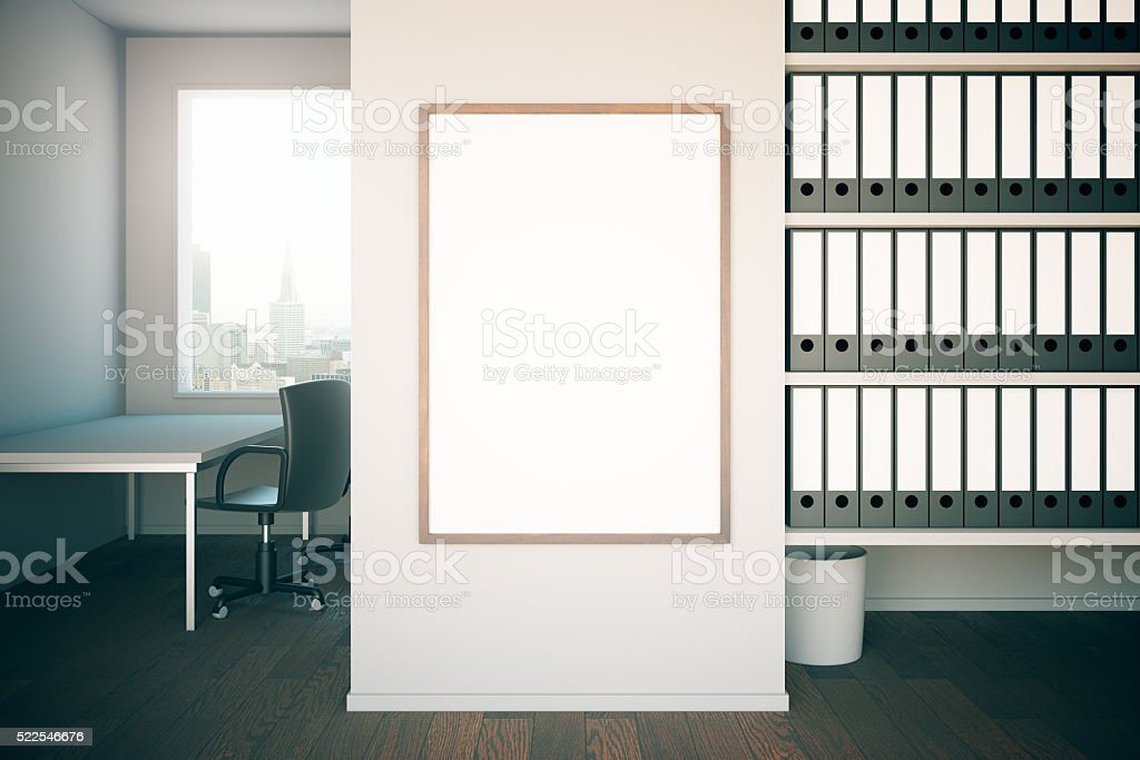 Office interior with frame stock photo