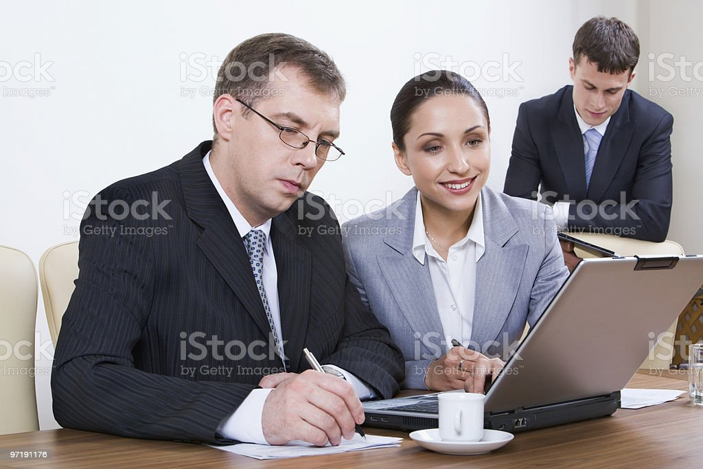 Office job royalty-free stock photo