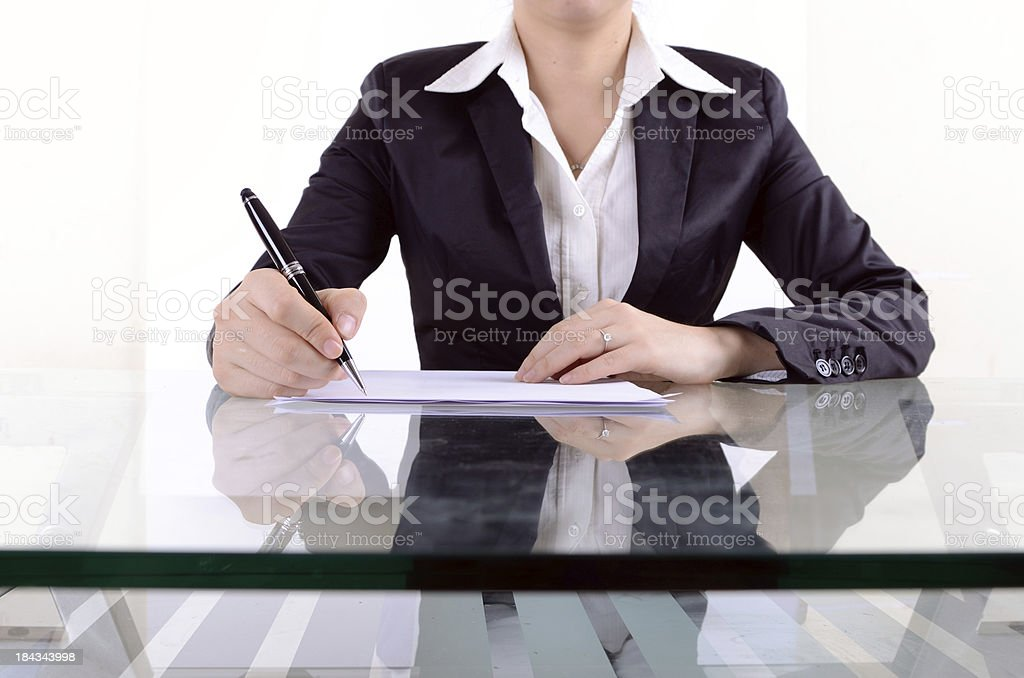 Office lady royalty-free stock photo