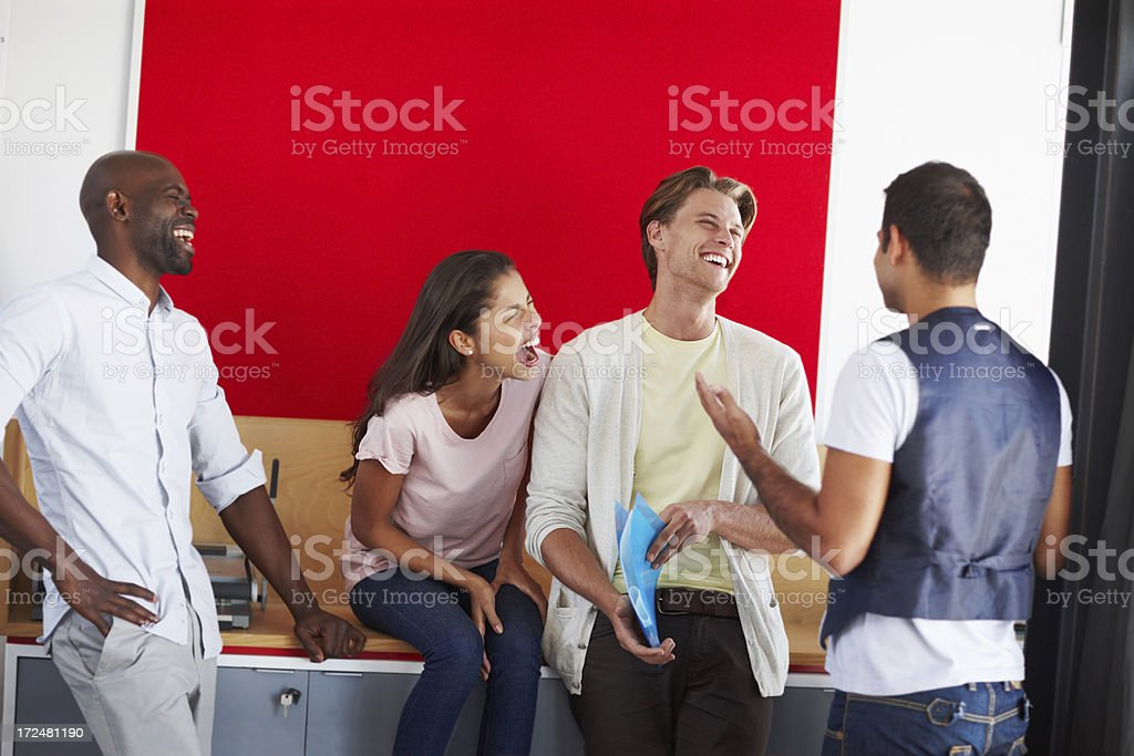 Office laughter royalty-free stock photo