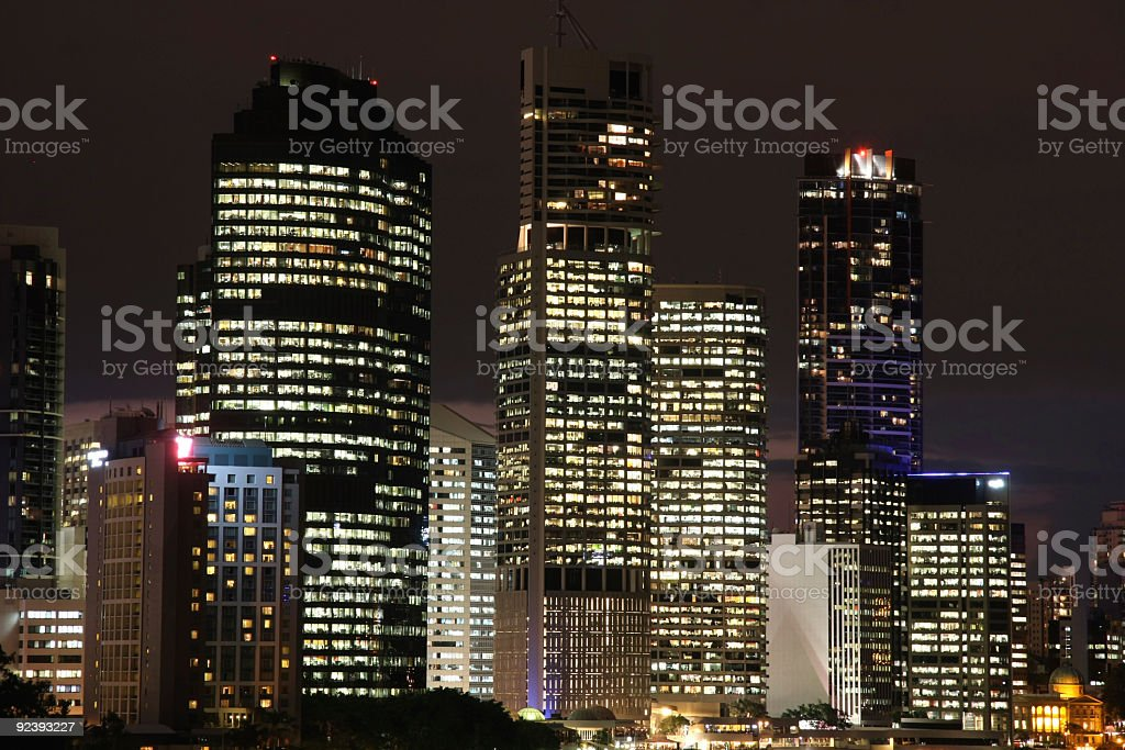 Office light in Brisbane royalty-free stock photo