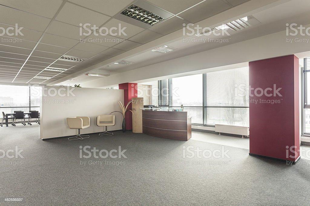 Office lobby stock photo