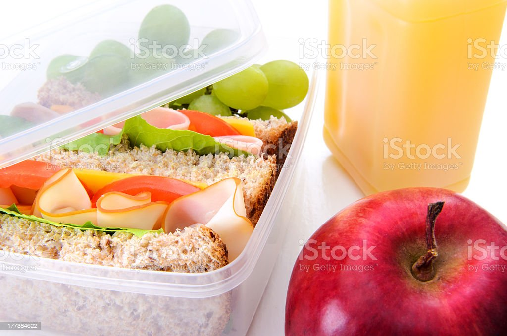Office lunch royalty-free stock photo
