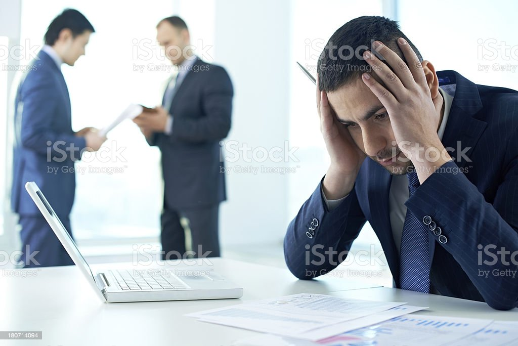 Office manager overloaded with work royalty-free stock photo