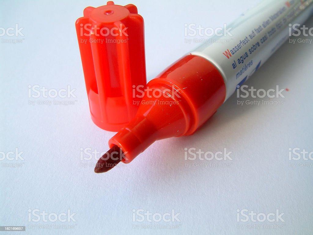 office - marker closeup stock photo