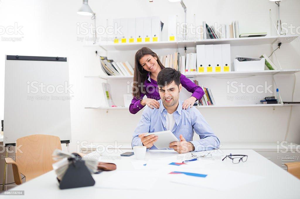 Office massage stock photo