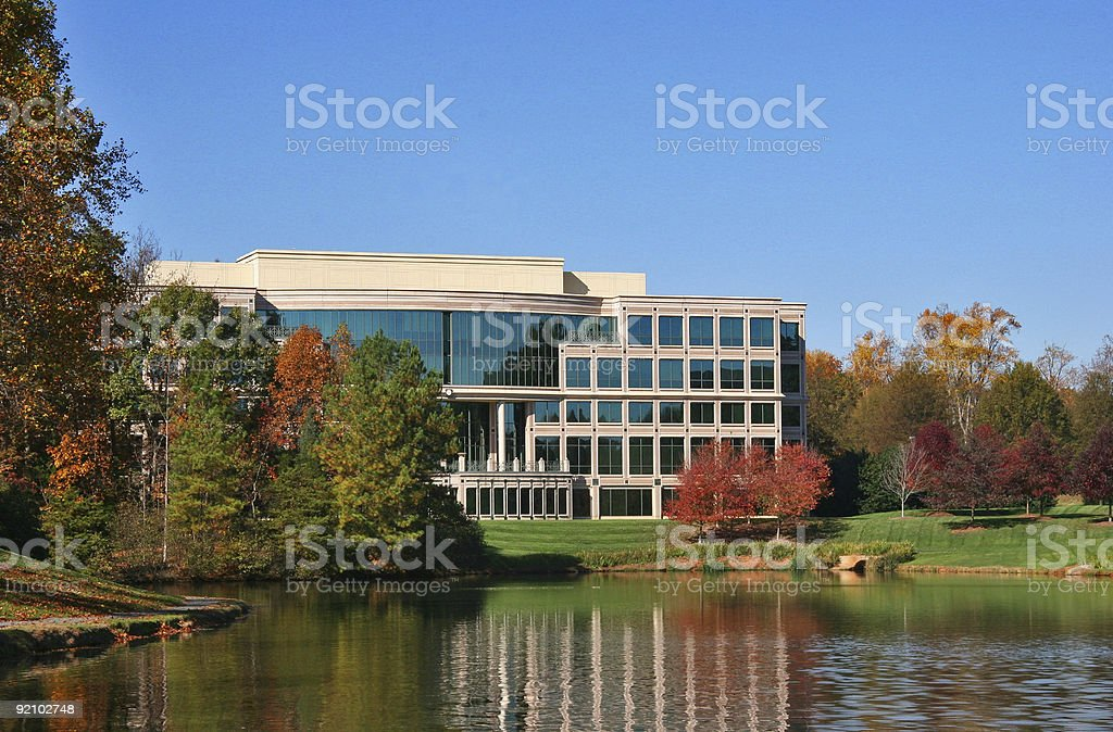Office Medical Building in the Fall stock photo