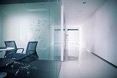 Office meeting room and hallway corridor