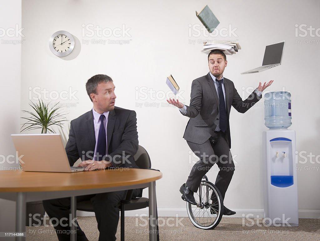 office multi-tasker stock photo