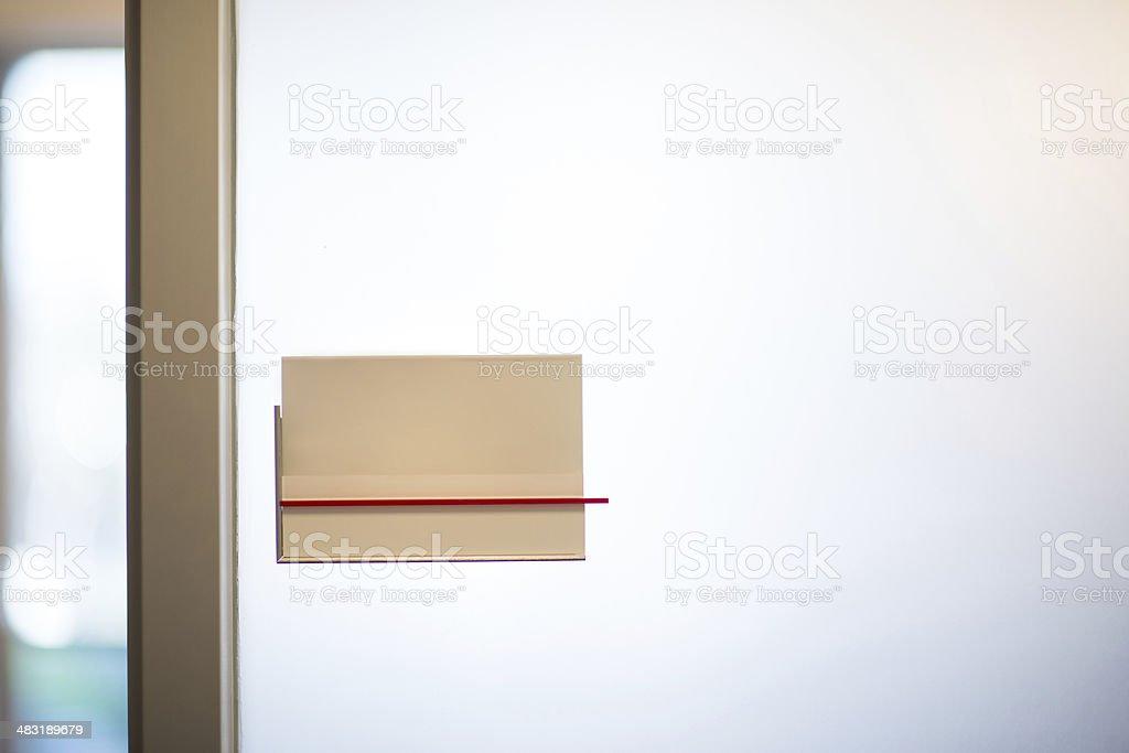 Office Nameplate stock photo