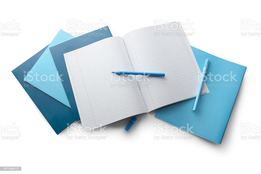 Office: Notebook and Marker royalty-free stock photo