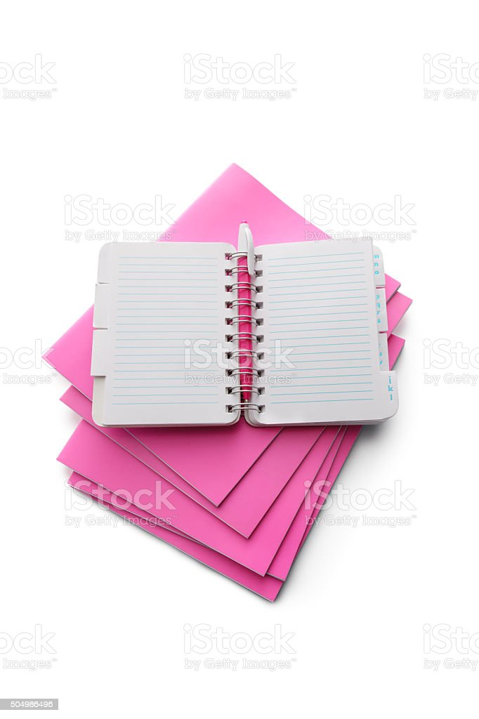 Office: Notebook and Organizer stock photo