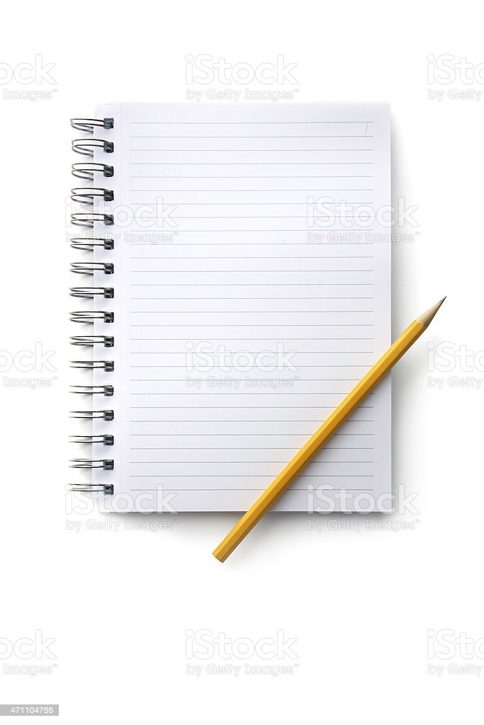 Office: Notebook and Pencil royalty-free stock photo
