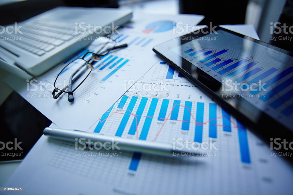 Office objects stock photo