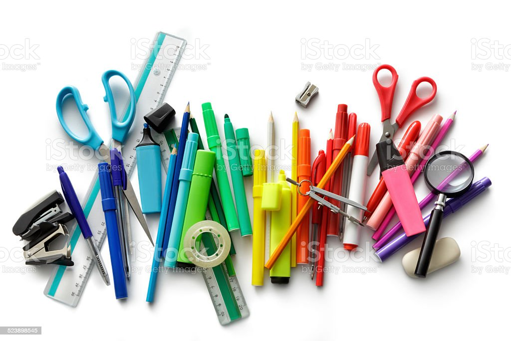 Office: Office Supplies royalty-free stock photo