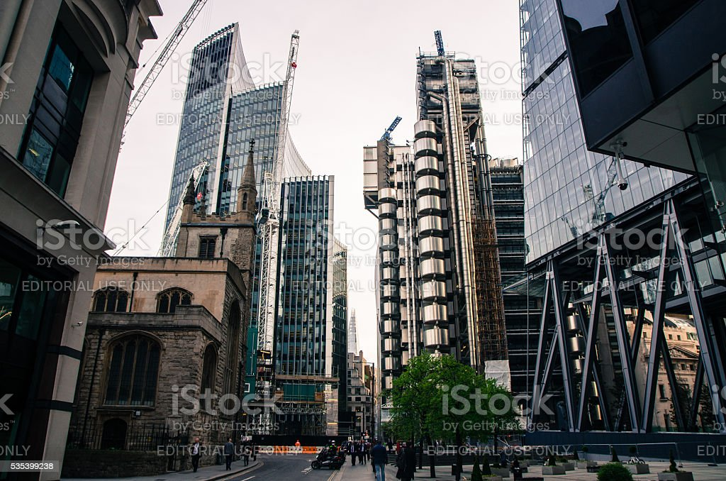 Office or Business skyscrapers in Financial district of London stock photo