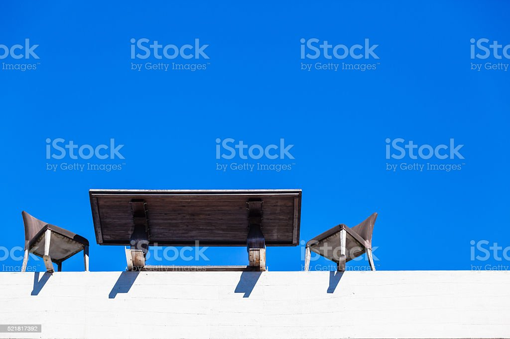 Office Outdoors Table Chairs stock photo
