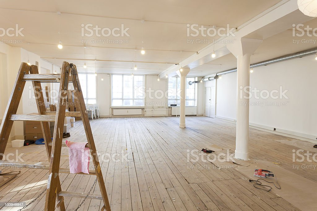 office painting stock photo