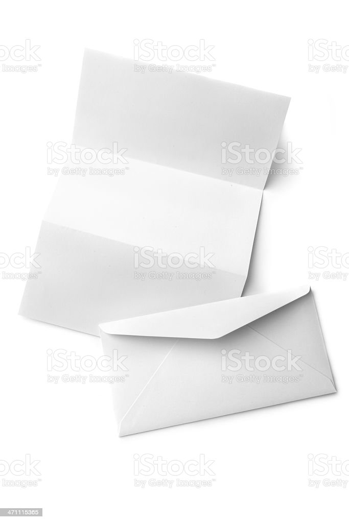 Office: Paper and Envelope royalty-free stock photo