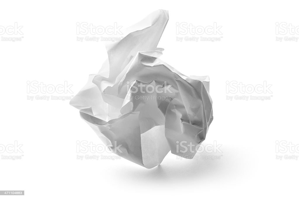 Office: Paper Ball stock photo