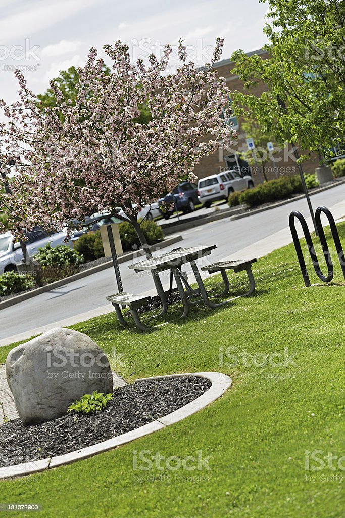 Office Park Picnic Table royalty-free stock photo