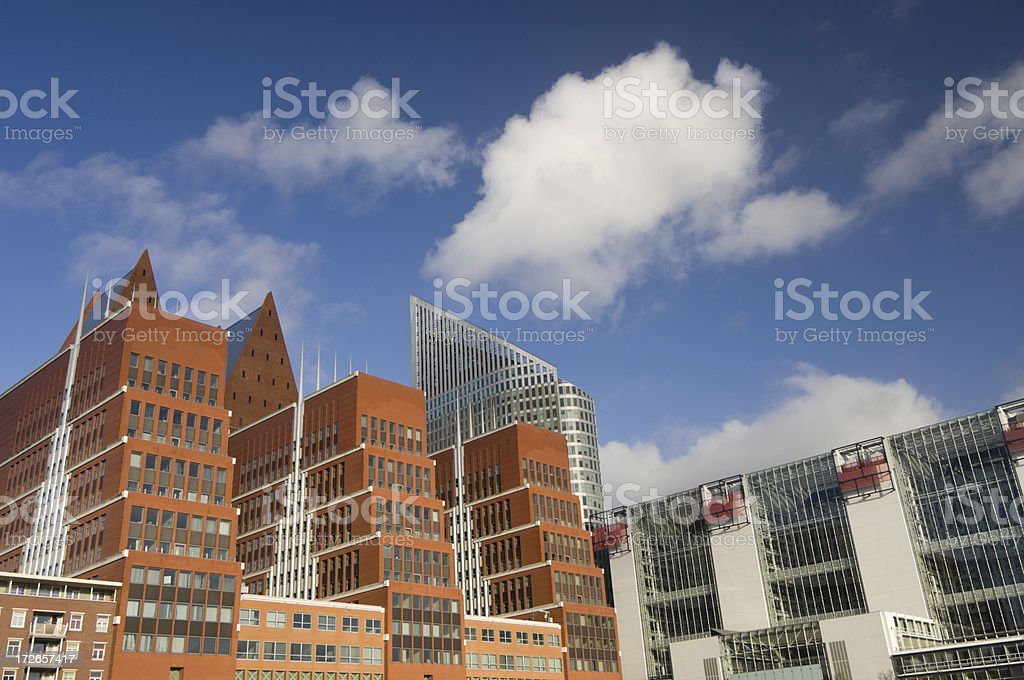 \'Downtown office park consisting of modern office buildings and...