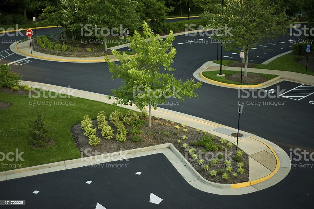 Office Parking Lot royalty-free stock photo