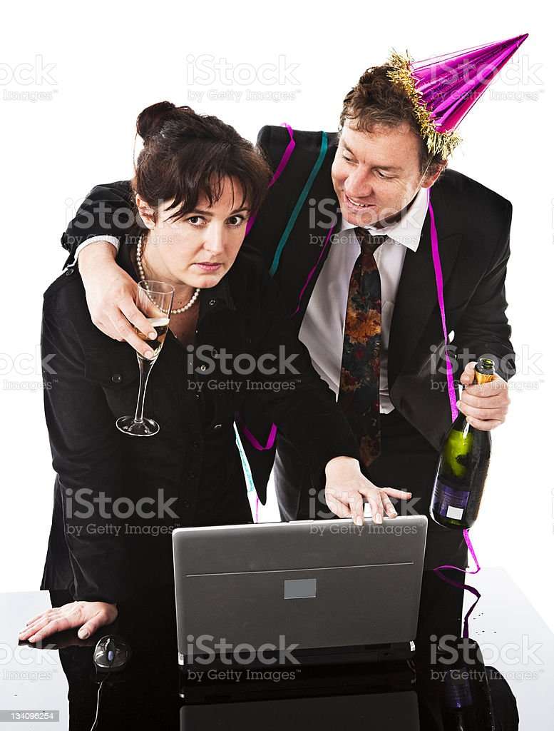 Office party harassment royalty-free stock photo