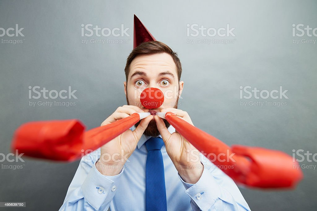 Office party maker stock photo