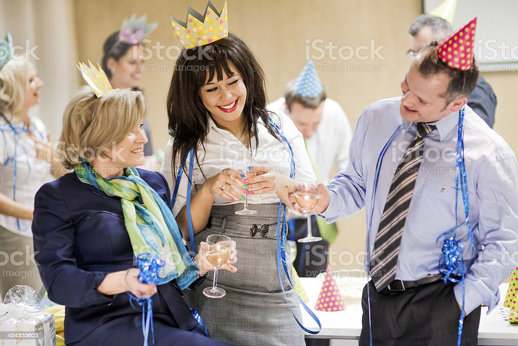 Office party series royalty-free stock photo