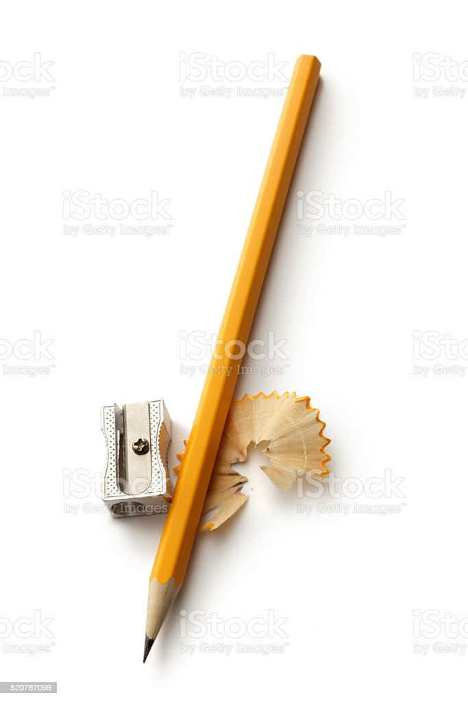 Office: Pencil and Pencil Sharpener stock photo