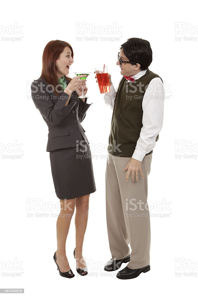 Office People Having Animated Conversation Over Drinks stock photo