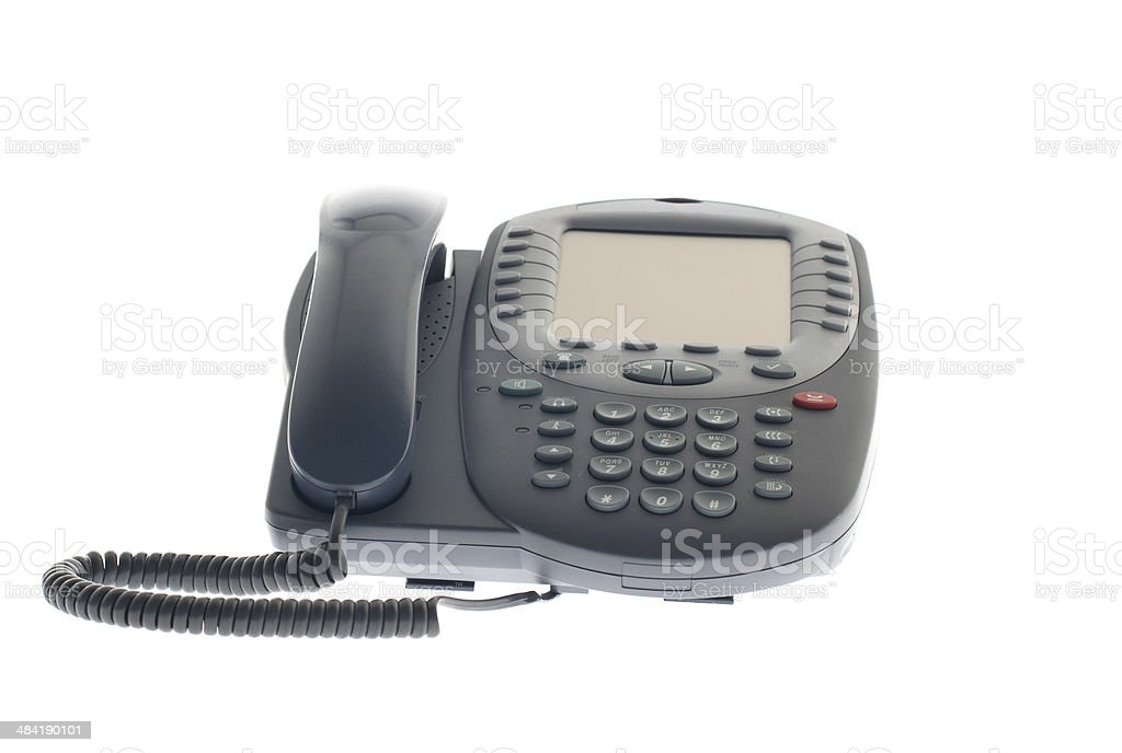 Office phone isolated on white royalty-free stock photo
