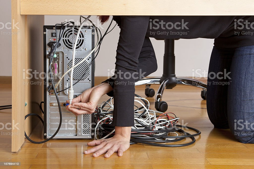 Office problems stock photo